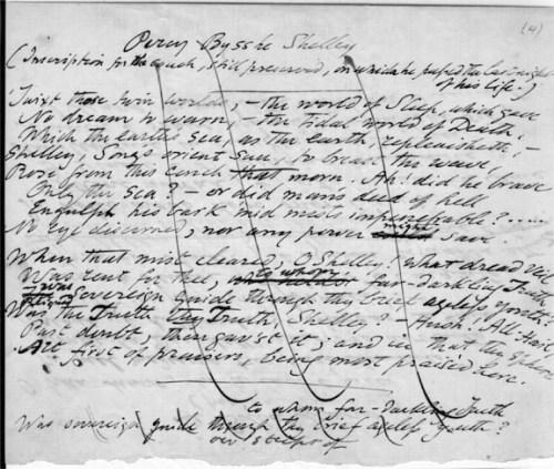 I Held A Shelley Manuscript